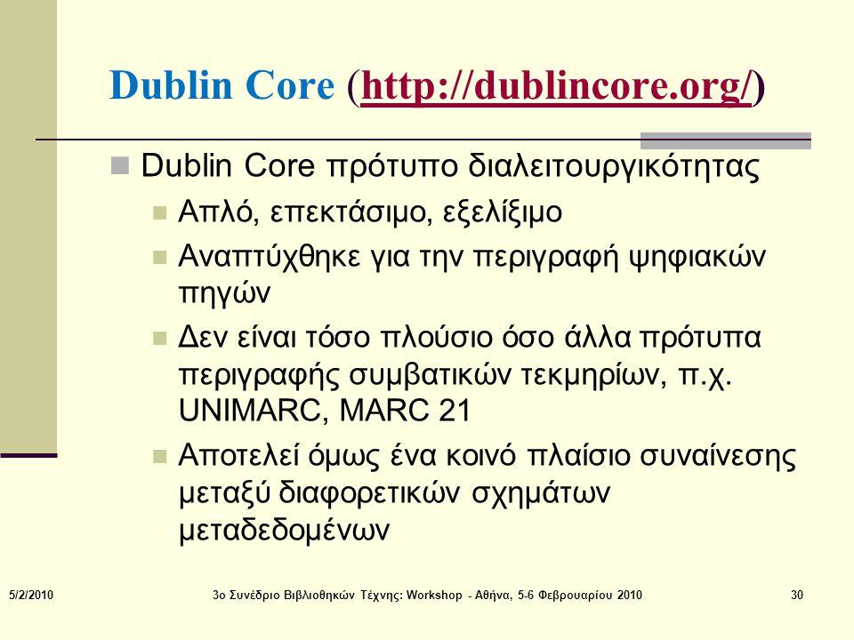 Dublin Core (http://dublincore.org/)