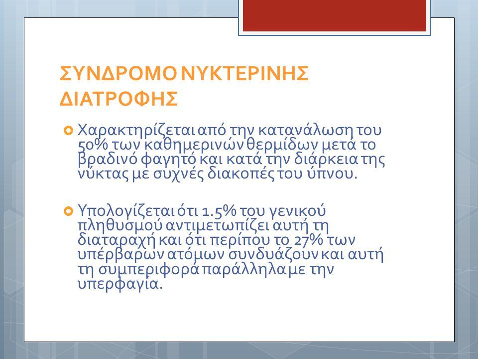 ΣΥΝΔΡΟΜΟ ΝΥΚΤΕΡΙΝΗΣ ΔΙΑΤΡΟΦΗΣ