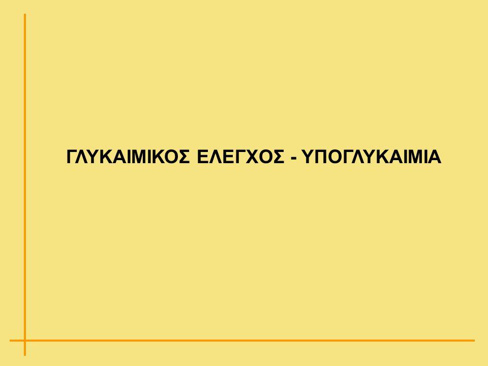 ΓΛΥΚΑΙΜΙΚΟΣ ΕΛΕΓΧΟΣ - ΥΠΟΓΛΥΚΑΙΜΙΑ