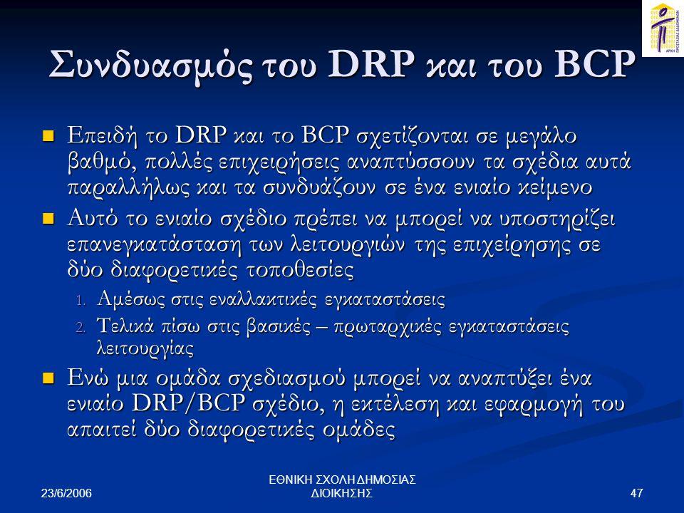 Συνδυασμός του DRP και του BCP