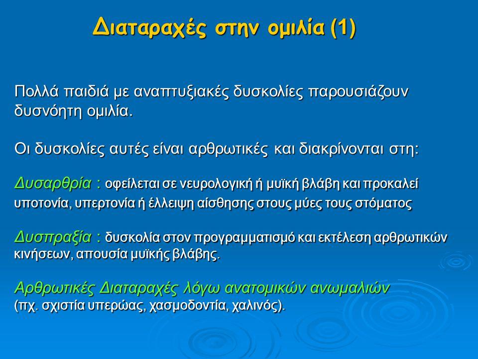 Διαταραχές στην ομιλία (1)
