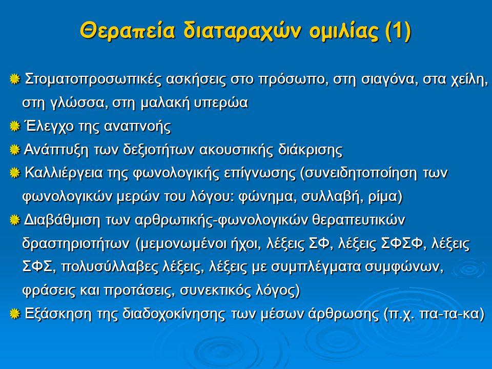 Θεραπεία διαταραχών ομιλίας (1)