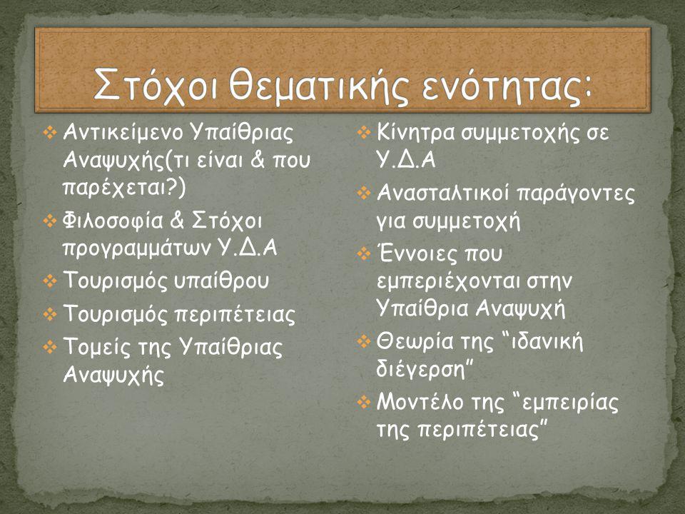 Στόχοι θεματικής ενότητας: