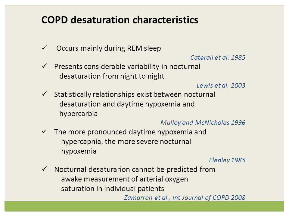 COPD desaturation characteristics