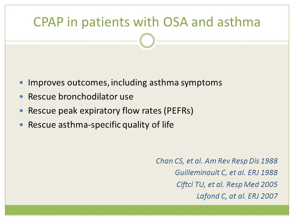 CPAP in patients with OSA and asthma