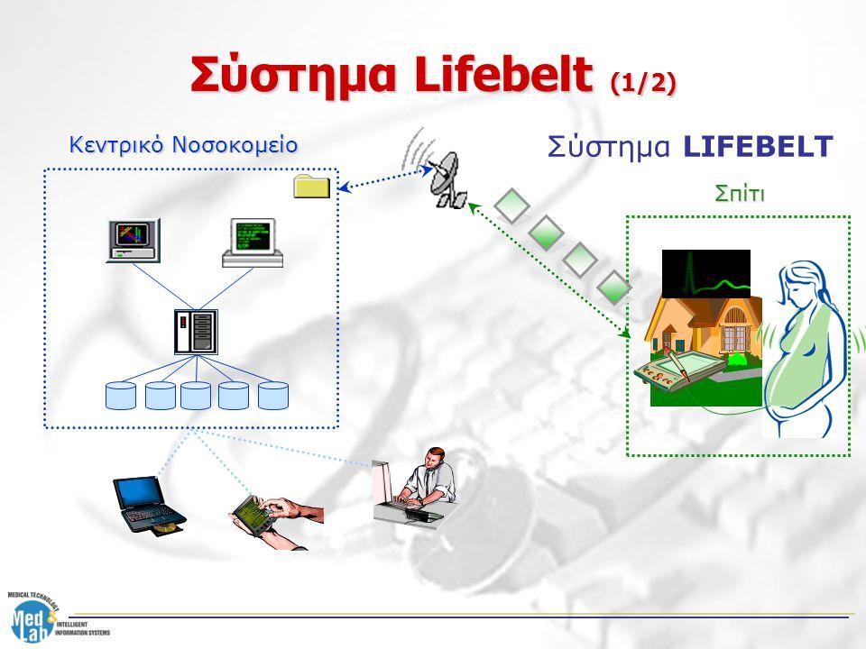 Σύστημα Lifebelt (1/2) Κεντρικό Νοσοκομείο Σύστημα LIFEBELT Σπίτι