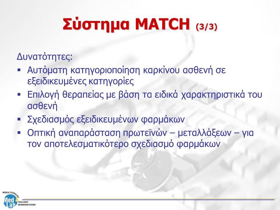 Σύστημα MATCH (3/3) Δυνατότητες: