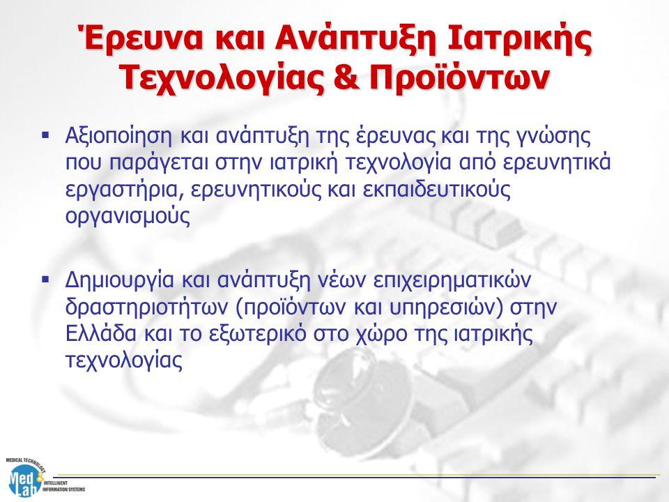 Έρευνα και Ανάπτυξη Ιατρικής Τεχνολογίας & Προϊόντων