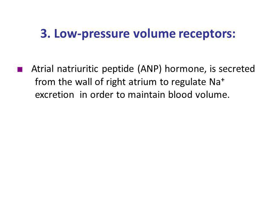 3. Low-pressure volume receptors: