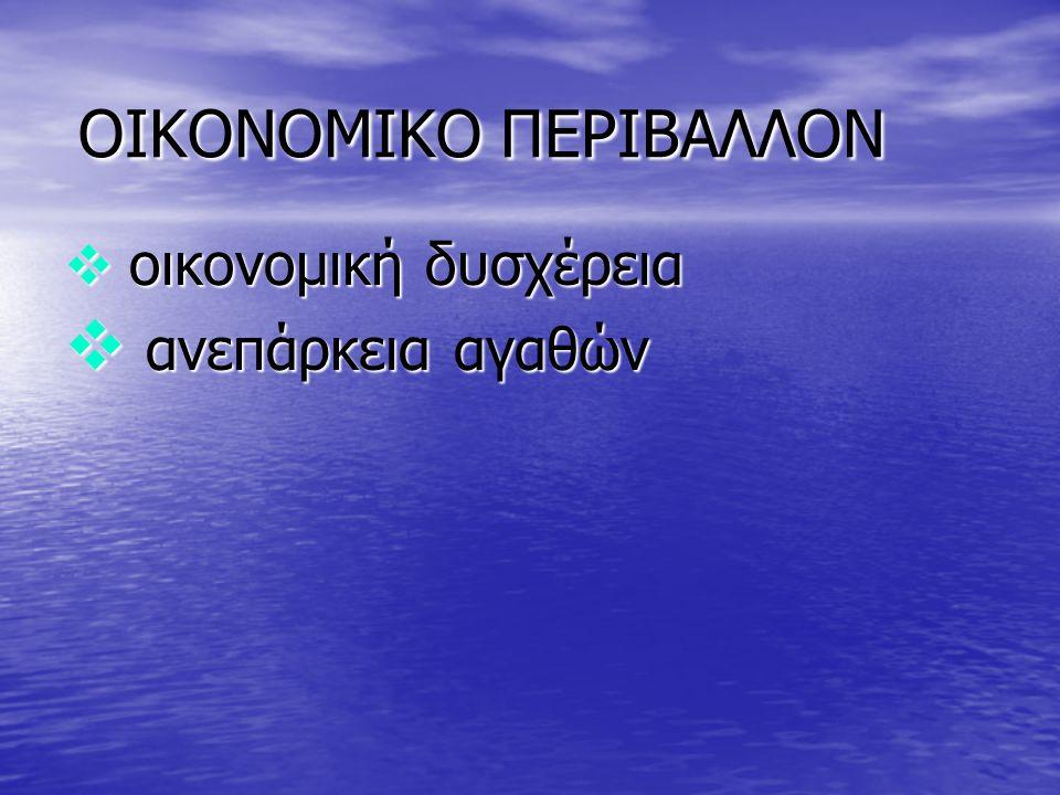 ΟΙΚΟΝΟΜΙΚΟ ΠΕΡΙΒΑΛΛΟΝ