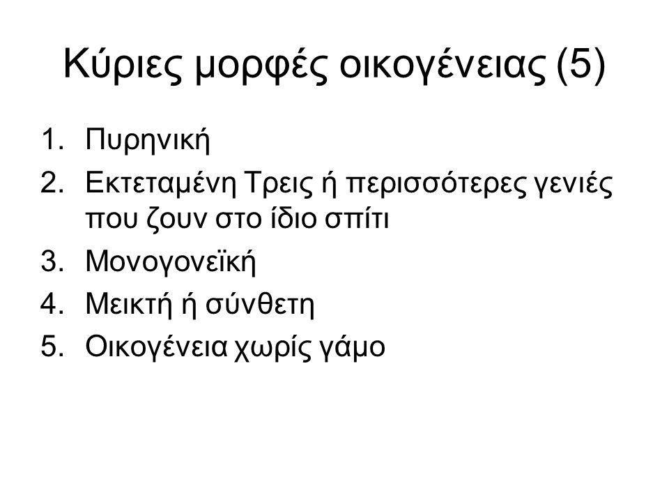 Κύριες μορφές οικογένειας (5)