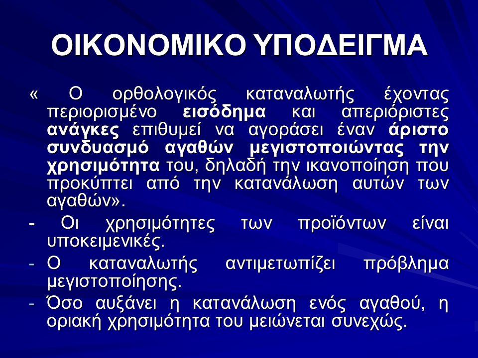 ΟΙΚΟΝΟΜΙΚΟ ΥΠΟΔΕΙΓΜΑ