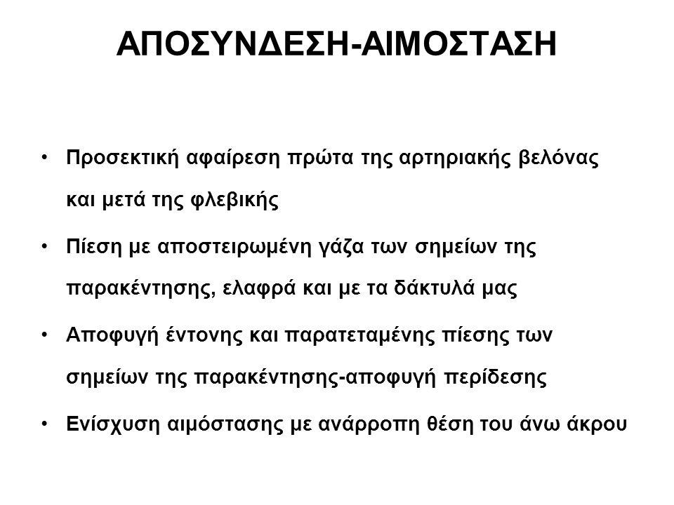 ΑΠΟΣΥΝΔΕΣΗ-ΑΙΜΟΣΤΑΣΗ