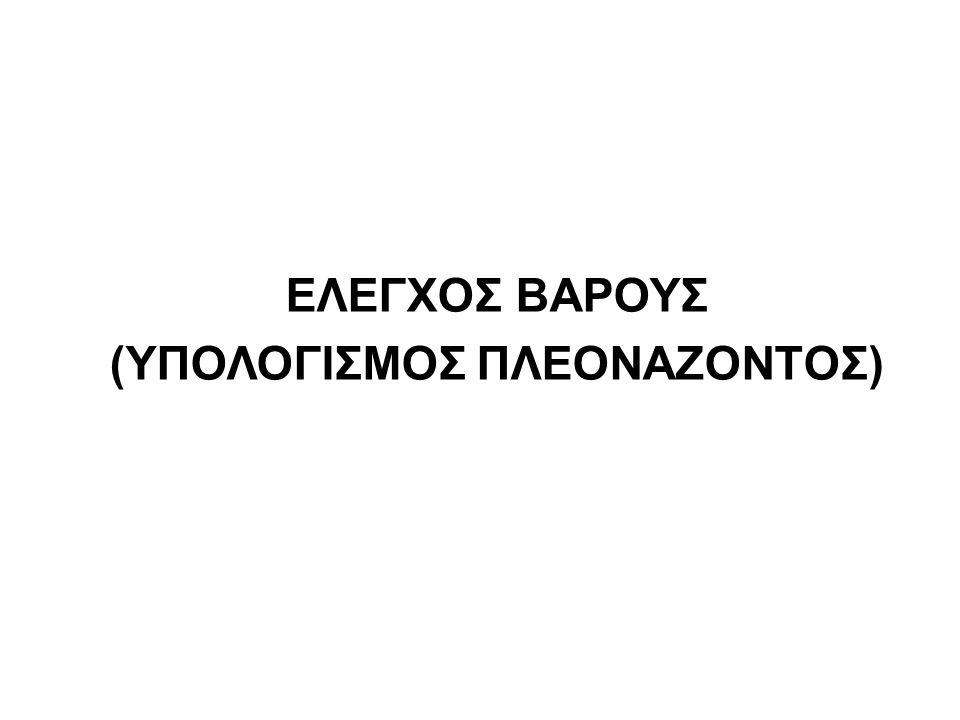 (ΥΠΟΛΟΓΙΣΜΟΣ ΠΛΕΟΝΑΖΟΝΤΟΣ)
