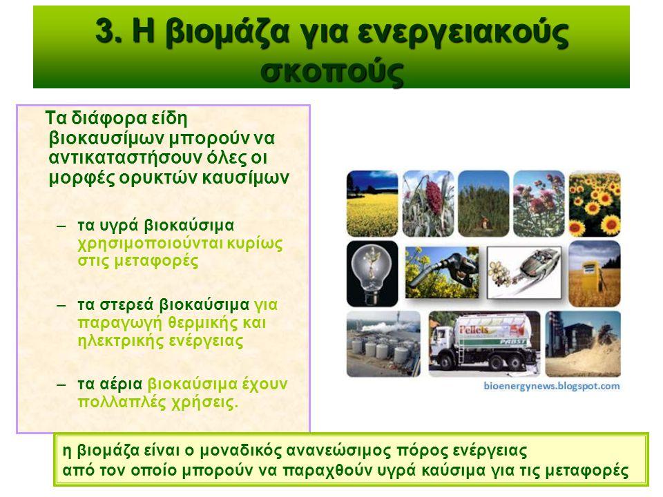 3. Η βιομάζα για ενεργειακούς σκοπούς