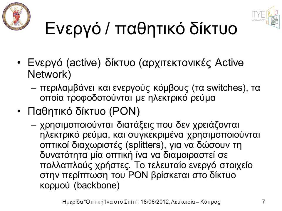 Ενεργό / παθητικό δίκτυο