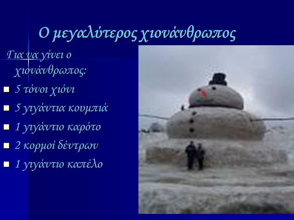 Ο μεγαλύτερος χιονάνθρωπος
