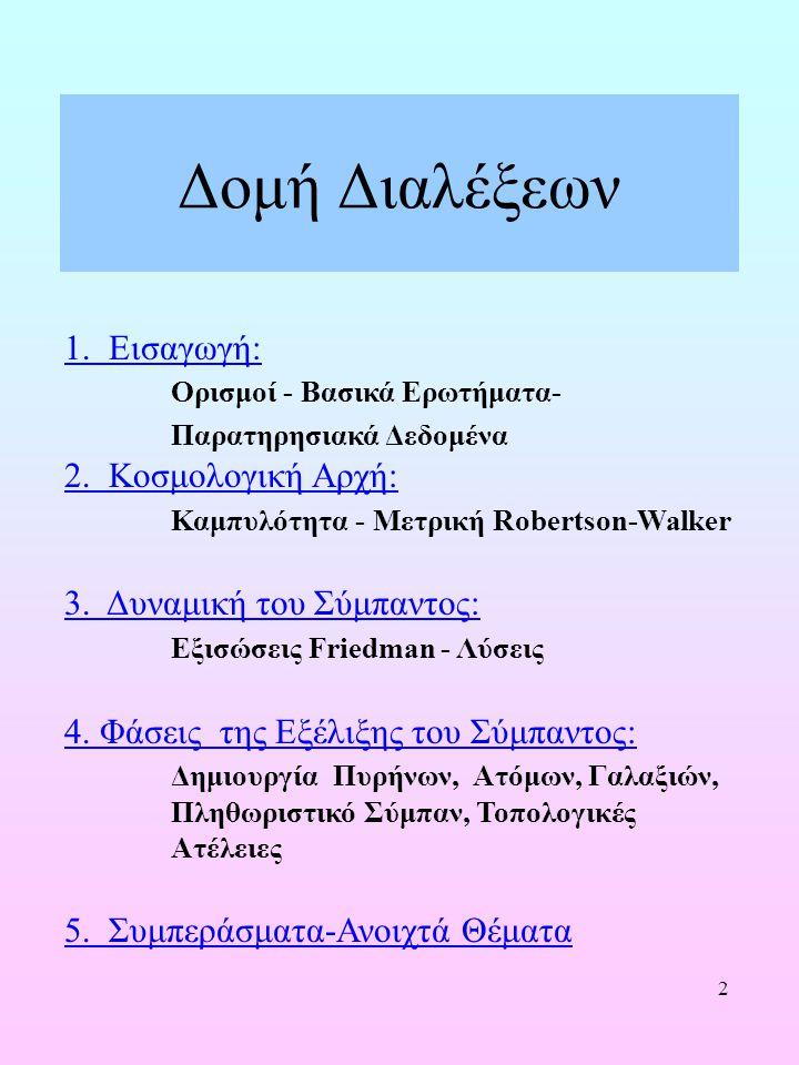 Δομή Διαλέξεων 1. Εισαγωγή: Ορισμοί - Βασικά Ερωτήματα-