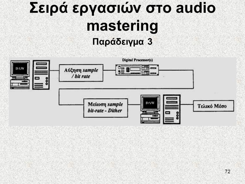 Σειρά εργασιών στο audio mastering Παράδειγμα 3