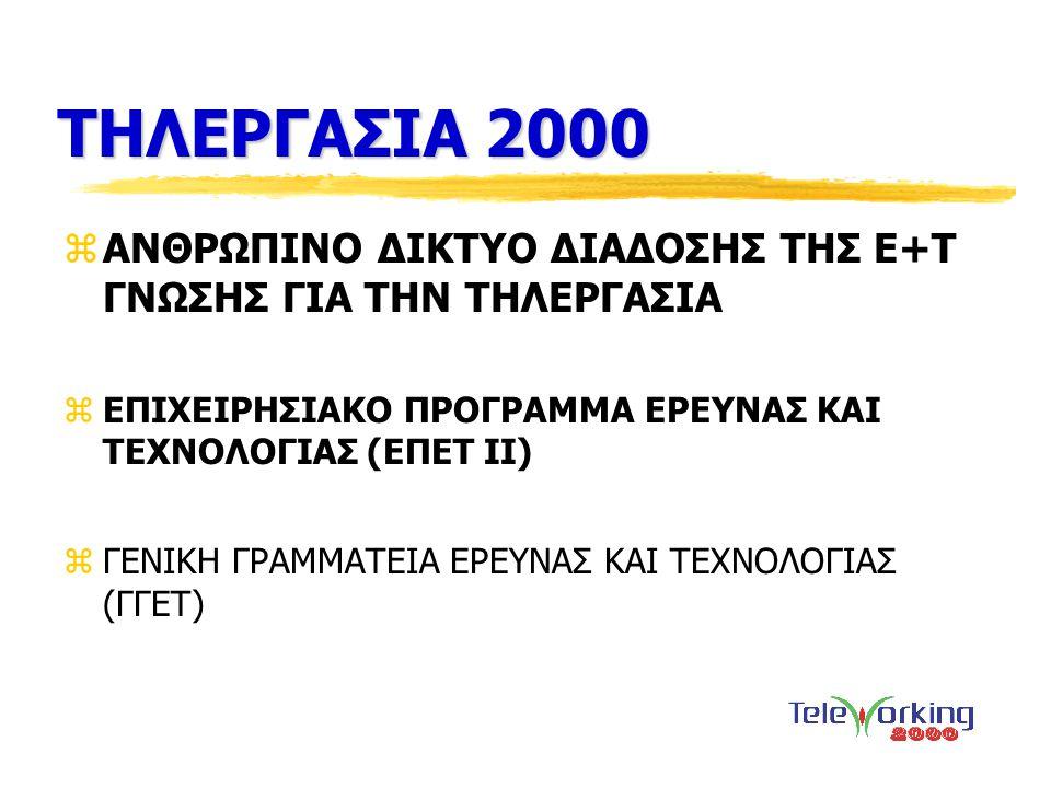 ΤΗΛΕΡΓΑΣΙΑ 2000 ΑΝΘΡΩΠΙΝΟ ΔΙΚΤΥΟ ΔΙΑΔΟΣΗΣ ΤΗΣ Ε+Τ ΓΝΩΣΗΣ ΓΙΑ ΤΗΝ ΤΗΛΕΡΓΑΣΙΑ. ΕΠΙΧΕΙΡΗΣΙΑΚΟ ΠΡΟΓΡΑΜΜΑ ΕΡΕΥΝΑΣ ΚΑΙ ΤΕΧΝΟΛΟΓΙΑΣ (ΕΠΕΤ ΙΙ)