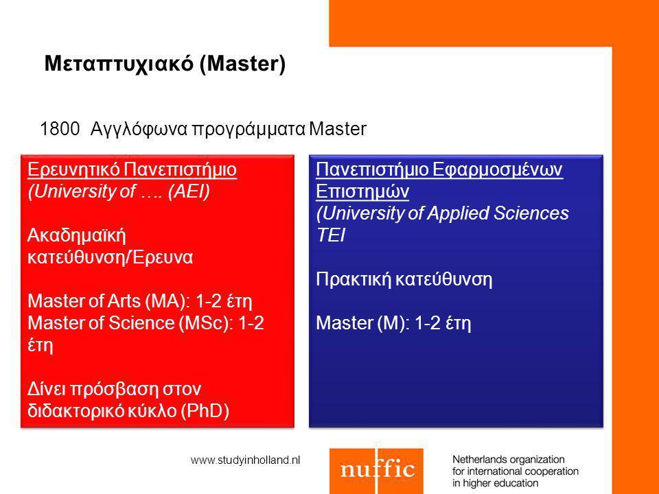 Μεταπτυχιακό (Master)