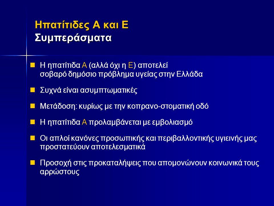 Ηπατίτιδες Α και E Συμπεράσματα
