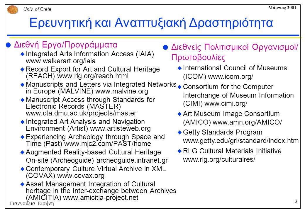 Ερευνητική και Αναπτυξιακή Δραστηριότητα