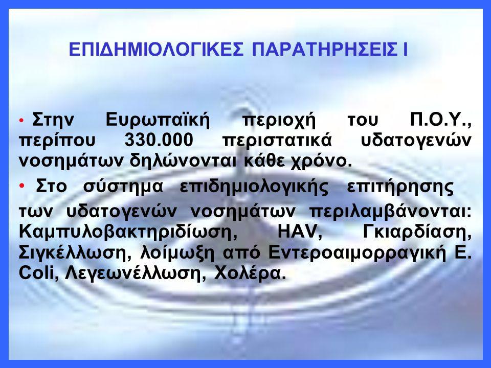 ΕΠΙΔΗΜΙΟΛΟΓΙΚΕΣ ΠΑΡΑΤΗΡΗΣΕΙΣ I