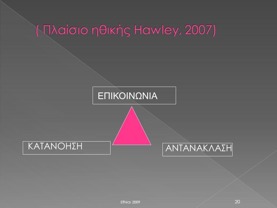 ( Πλαίσιο ηθικής Hawley, 2007)
