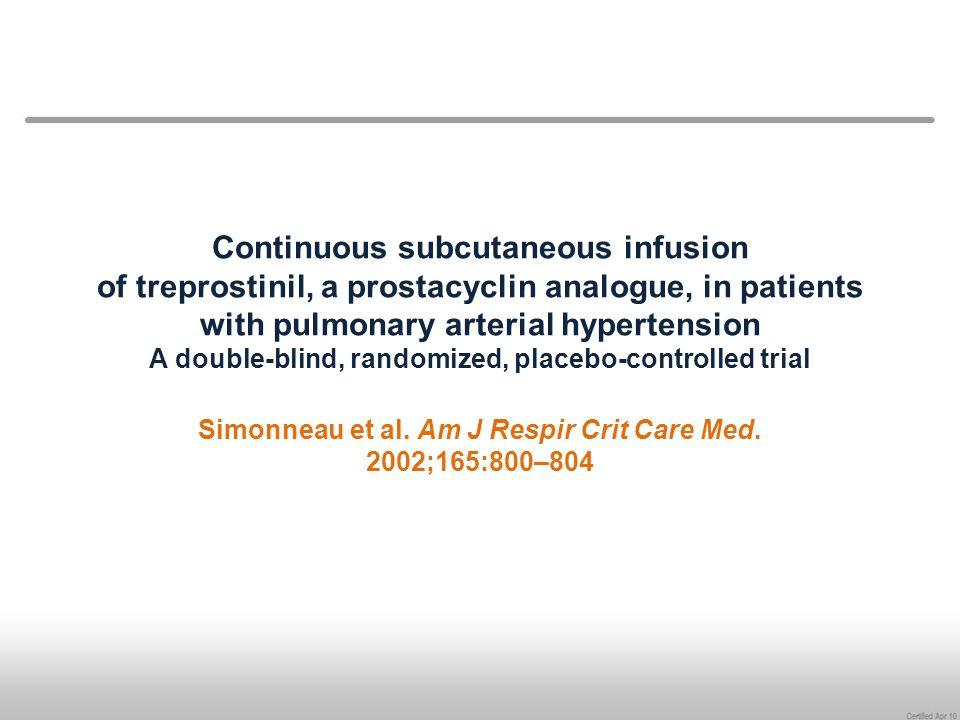 Simonneau et al. Am J Respir Crit Care Med. 2002;165:800–804