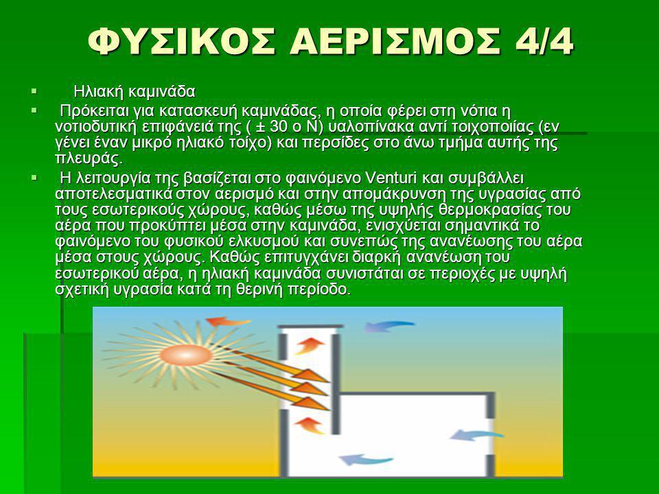 ΦΥΣΙΚΟΣ ΑΕΡΙΣΜΟΣ 4/4 Ηλιακή καμινάδα