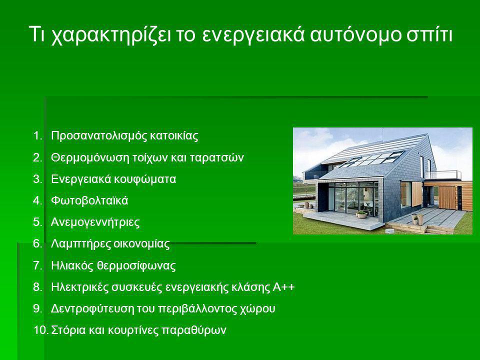 Τι χαρακτηρίζει το ενεργειακά αυτόνομο σπίτι