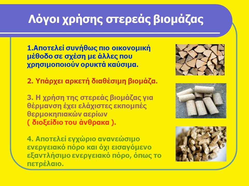 Λόγοι χρήσης στερεάς βιομάζας