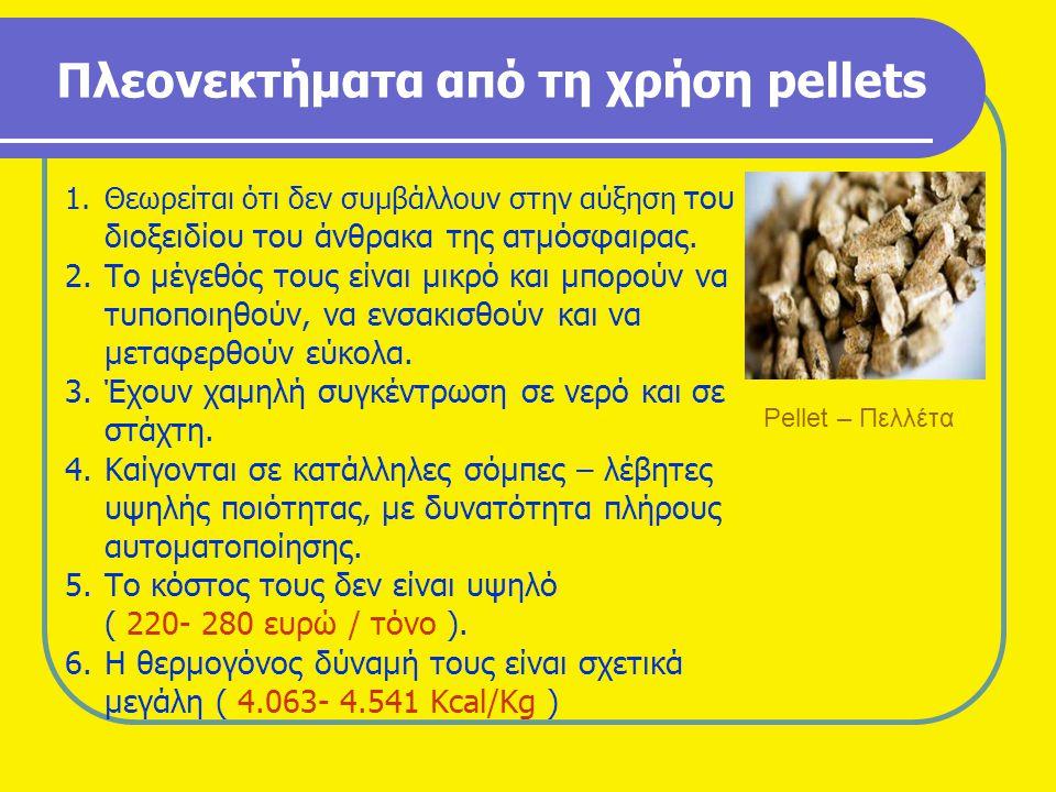 Πλεονεκτήματα από τη χρήση pellets