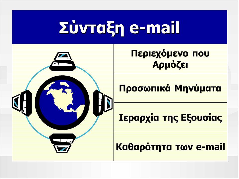 Σύνταξη e-mail Περιεχόμενο που Αρμόζει Προσωπικά Μηνύματα