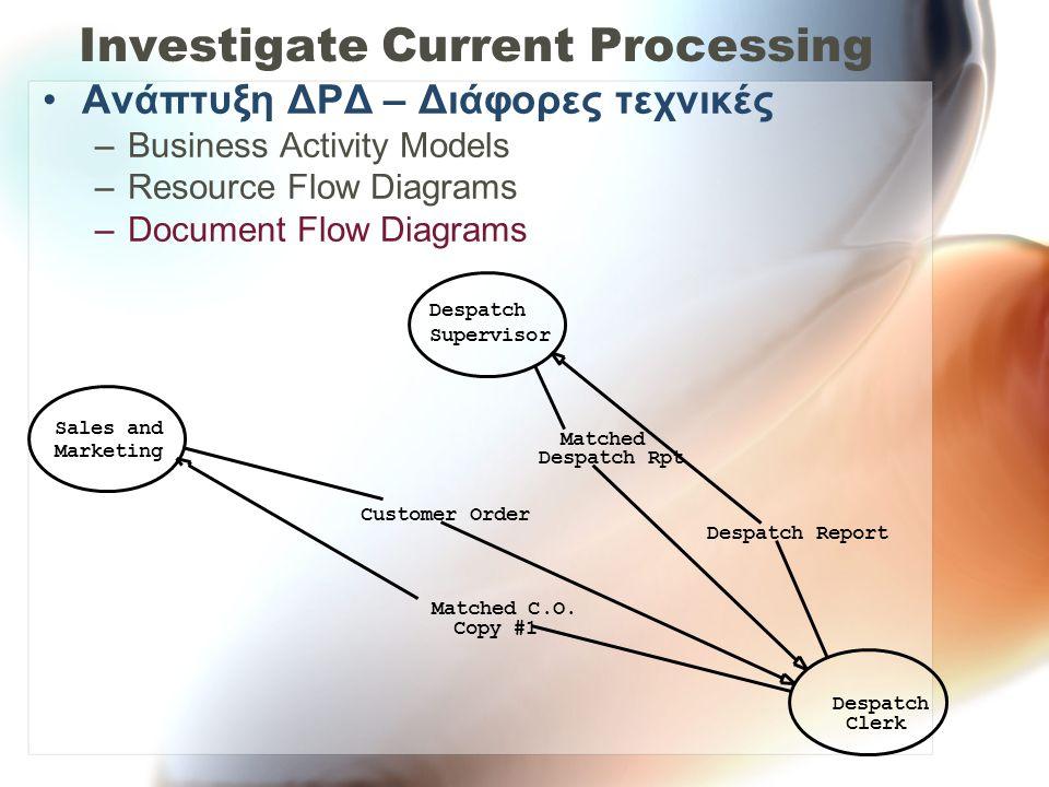 Investigate Current Processing