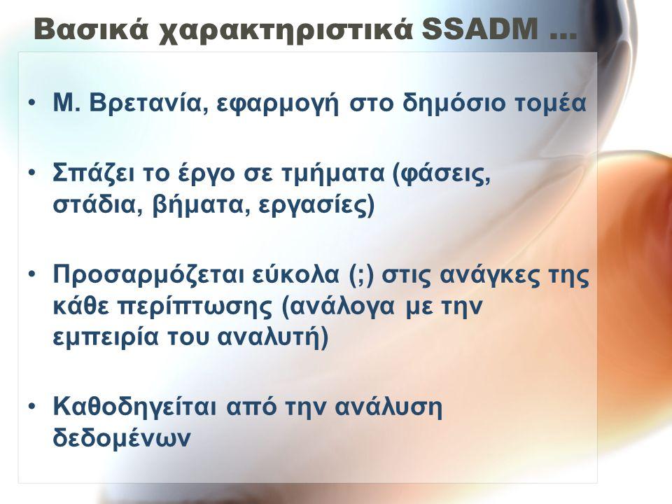 Βασικά χαρακτηριστικά SSADM ...