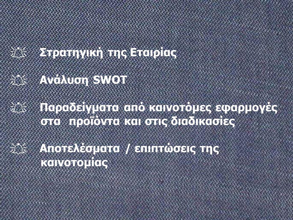 . Στρατηγική της Εταιρίας . Ανάλυση SWOT 