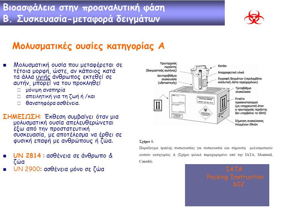Μολυσματικές ουσίες κατηγορίας Α