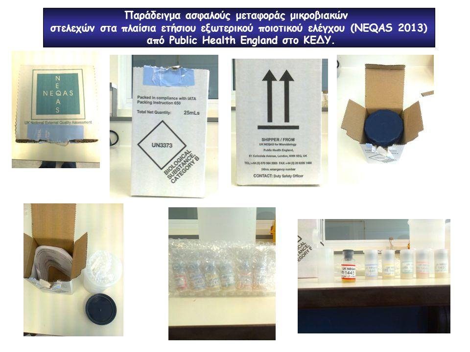 Παράδειγμα ασφαλούς μεταφοράς μικροβιακών
