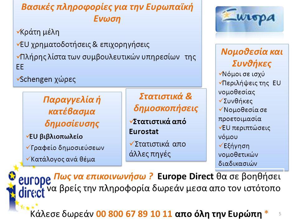 Βασικές πληροφορίες για την Ευρωπαϊκή Ενωση