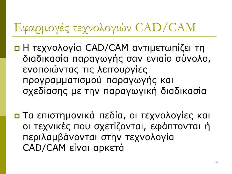 Εφαρμογές τεχνολογιών CAD/CAM