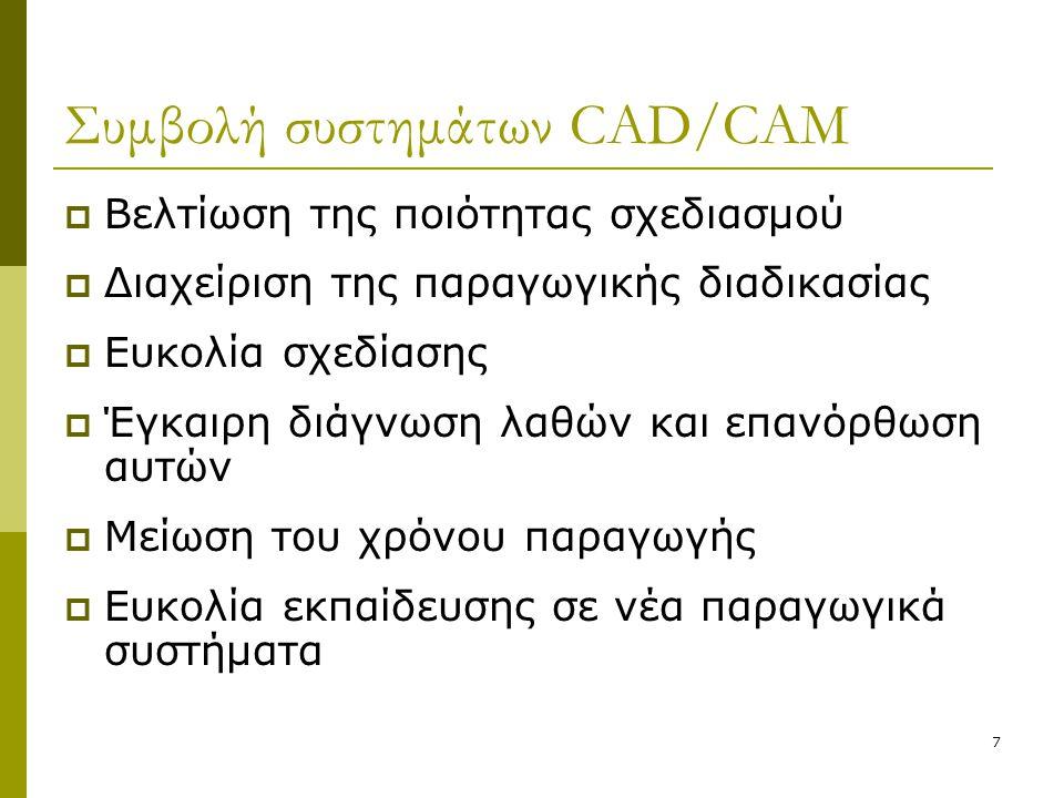 Συμβολή συστημάτων CAD/CAM
