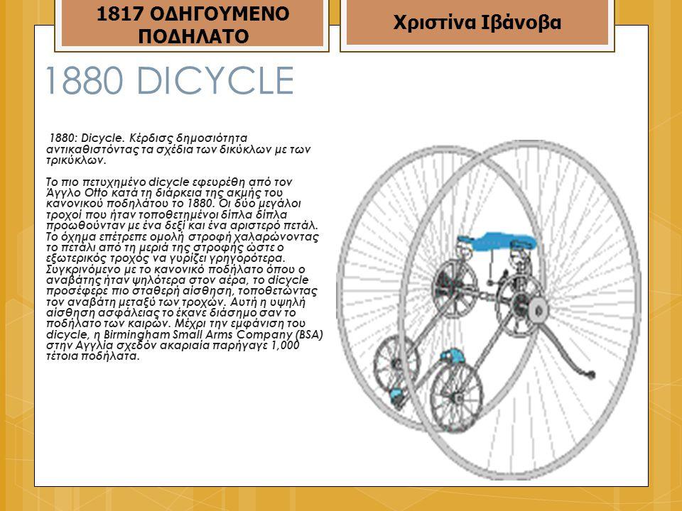 1880 DICΥCLE 1817 ΟΔΗΓΟΥΜΕΝΟ ΠΟΔΗΛΑΤΟ Χριστίνα Ιβάνοβα