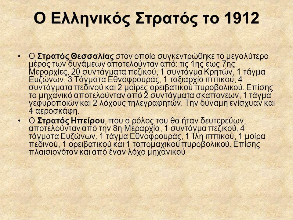 Ο Ελληνικός Στρατός το 1912