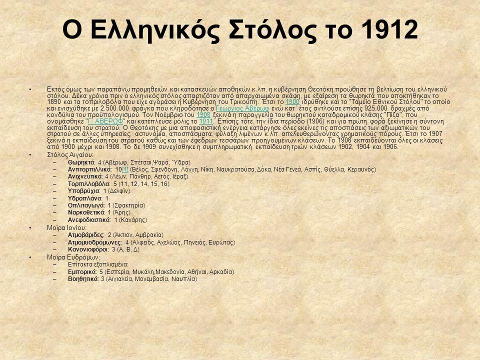 Ο Ελληνικός Στόλος το 1912