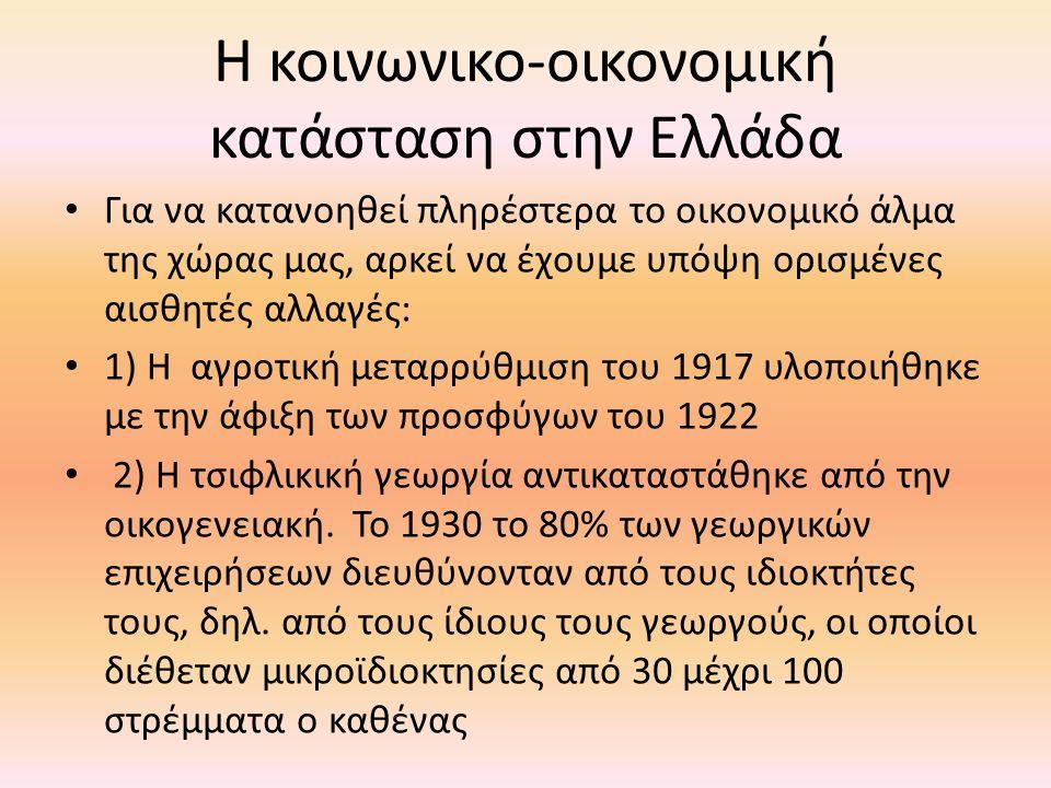 Η κοινωνικο-οικονομική κατάσταση στην Ελλάδα