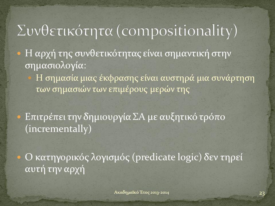 Συνθετικότητα (compositionality)