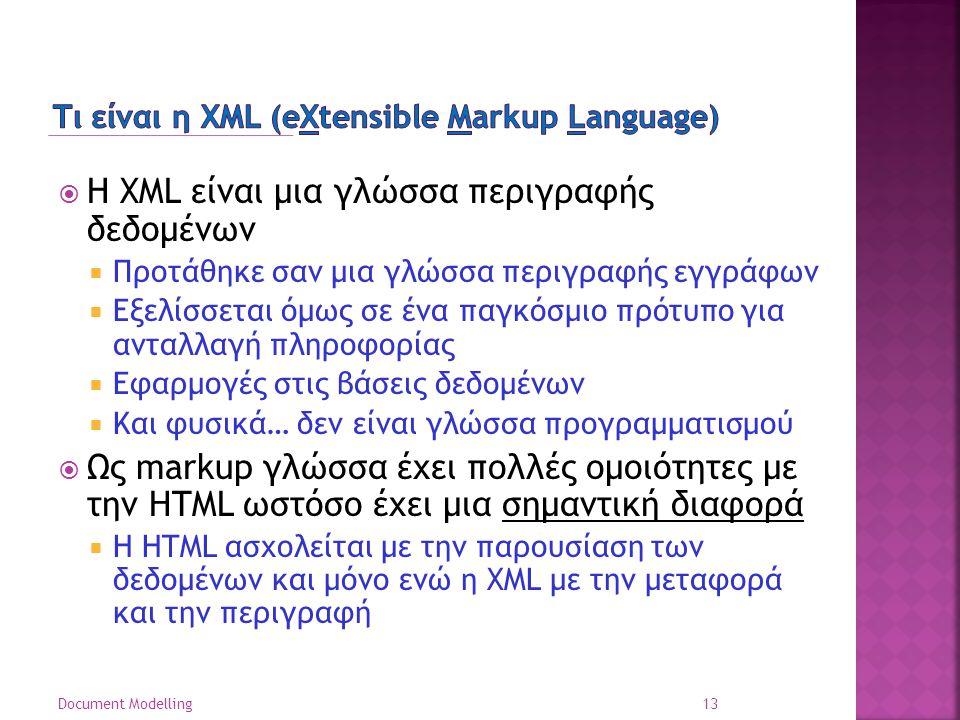 Τι είναι η XML (eXtensible Markup Language)