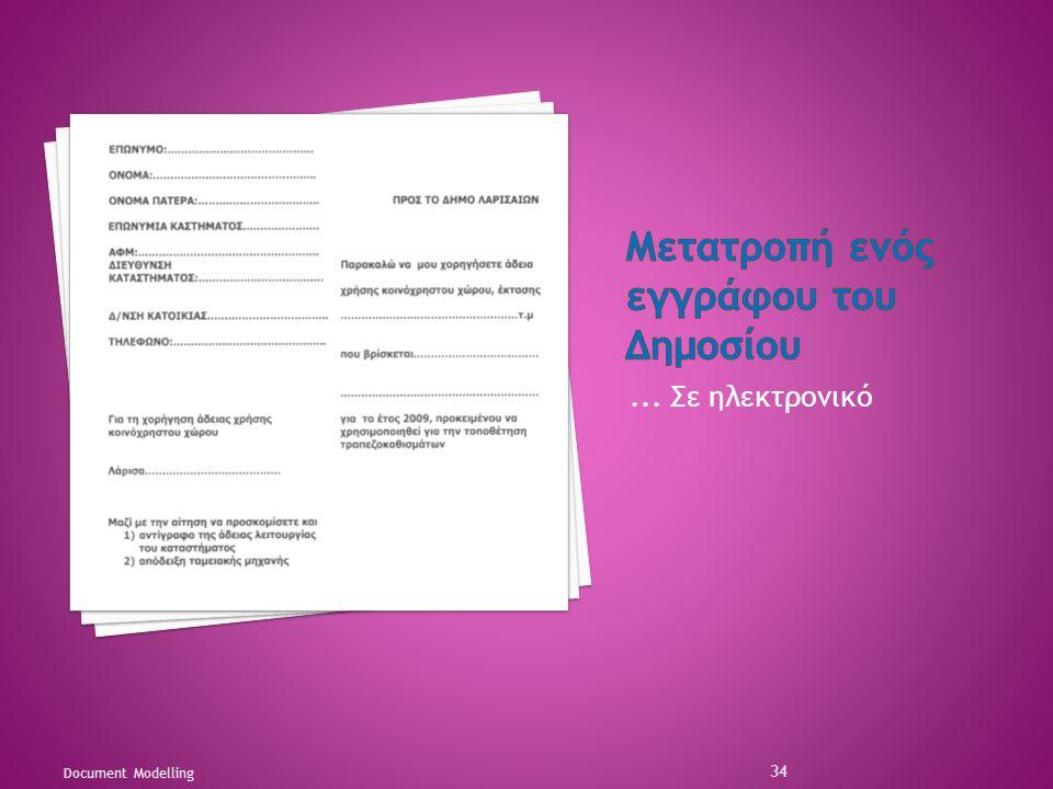 Μετατροπή ενός εγγράφου του Δημοσίου